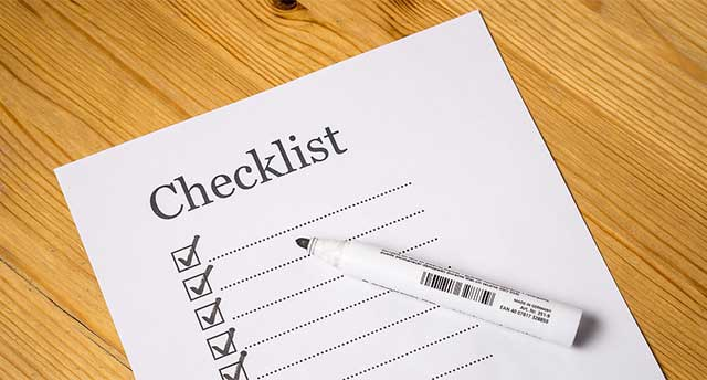 checklist when moving
