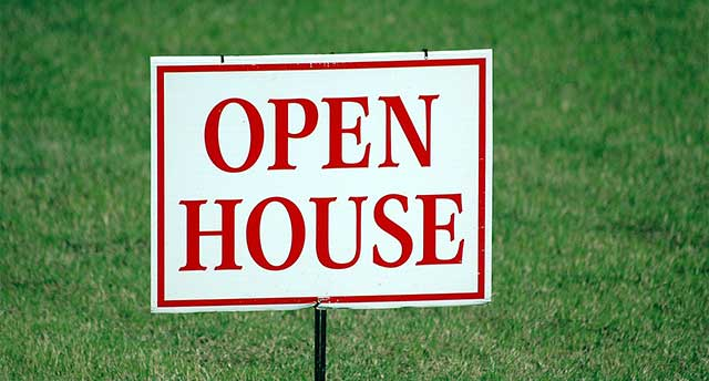 Display with open House written
