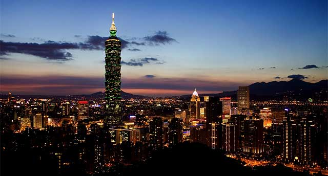Taiwan during night time