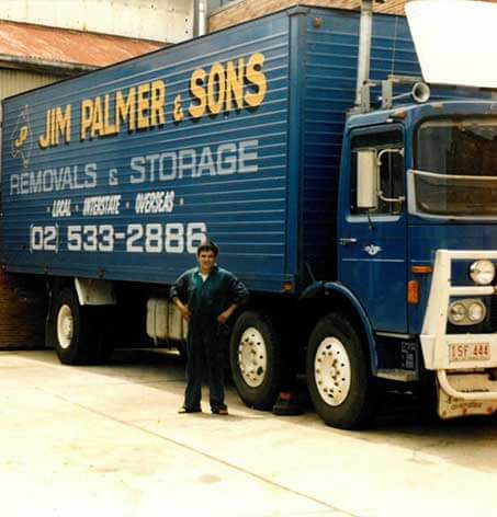 Palmers relocations truck in the 1980s