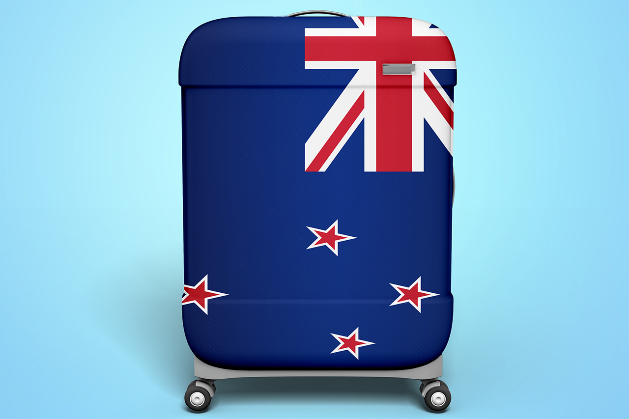 Suitcase With NZ Flag