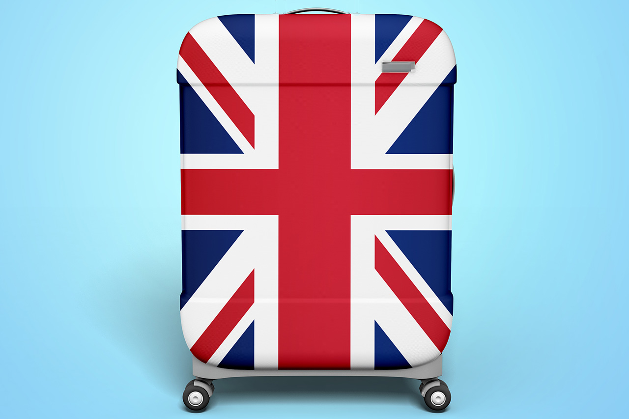 Suitcase With English Flag