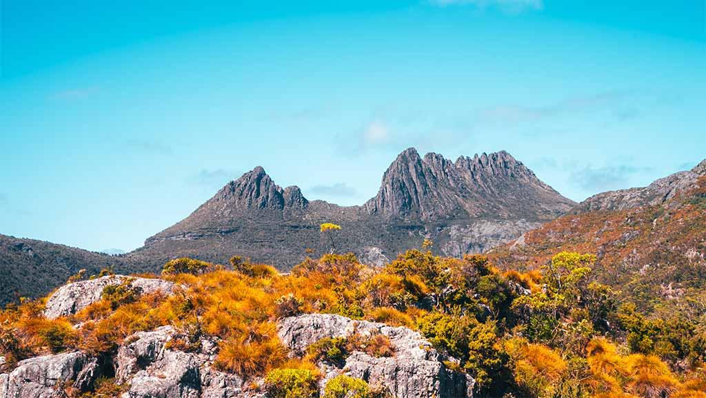 cradle mountain in tasmania