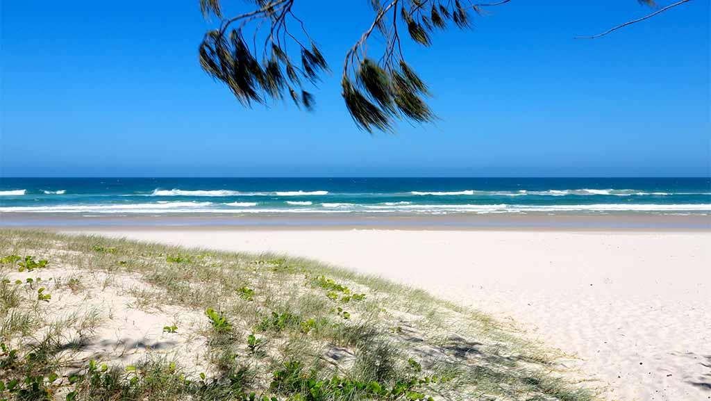 salt beach at casuarina in new south wales australia