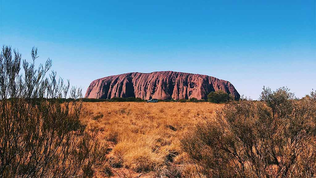 Uluru Ayers Rock in northern territory