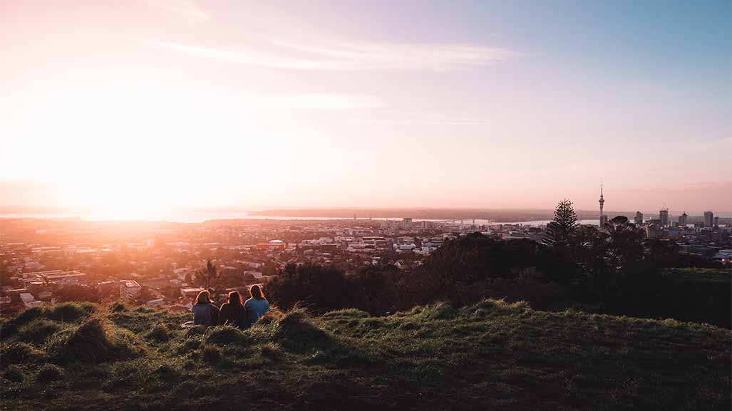view of auckland new zealand from mount eden