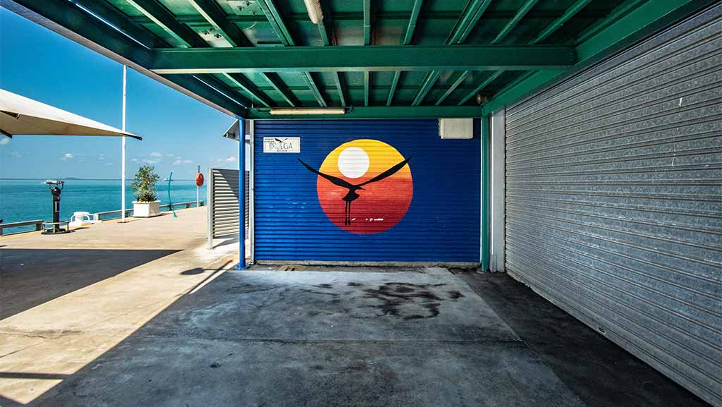 Wall painted in darwin northern territory australia