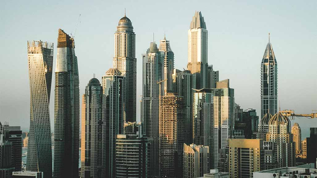 Skyline buildings in dubai UAE